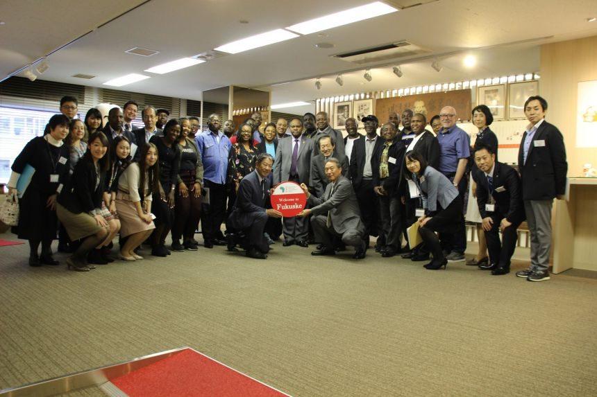 国連大学主催 アフリカの持続可能な開発のための教育プログラムメンバーによる企業視察実施について