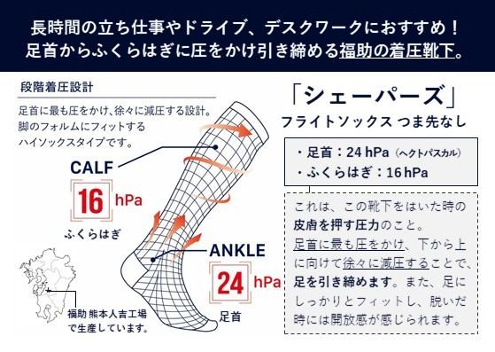 福助の着圧靴下「ロングフライトソックス」イベントを実施